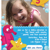printable mermaid/under-the-sea birthday party invitation