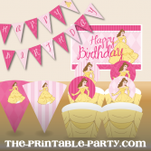 printable princess birthday party decorations banners cupcake wrappers