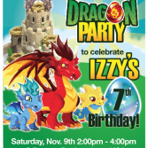 custom printable dragon city party invitation