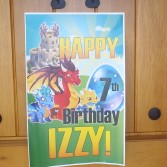 "printable custom dragon city ""happy birthday"" poster sign"