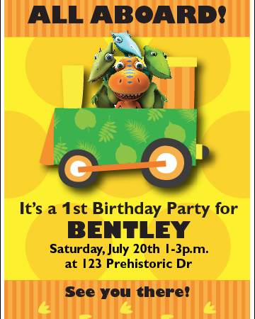 Custom Printable Dinosaur Train Birthday Party Invitation