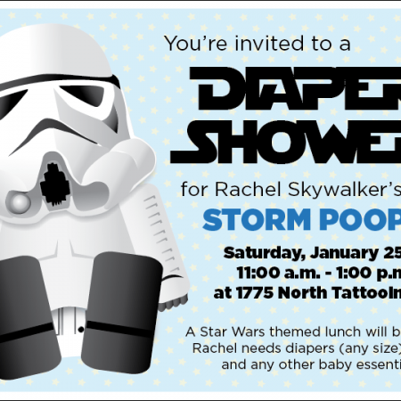 Printable Star Wars Baby Shower/Birthday Invitation Storm Trooper