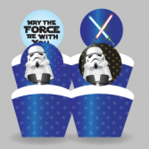 Printable Star Wars Cupcake Toppers and Wrappers
