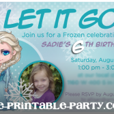 Printable Custom Frozen Elsa Birthday Party Invitation