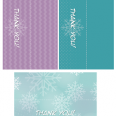 "Printable Frozen ""Thank You"" Favor toppers"