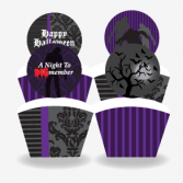 Printable Zombie Halloween Cupcake Wrappers and Toppers