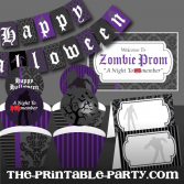Printable Halloween Zombie Party Decorations