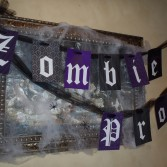Printable Zombie Prom Banner