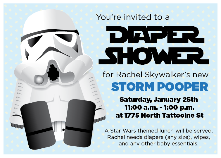 Printable Star Wars Baby Shower Invitation