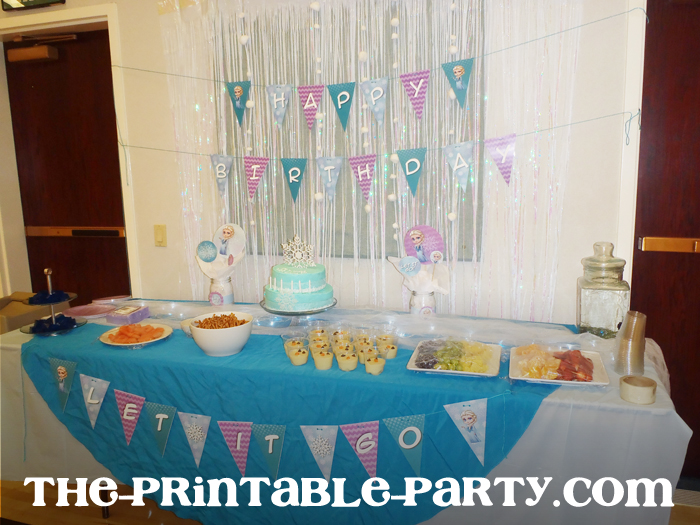custom printable frozen elsa party decorations